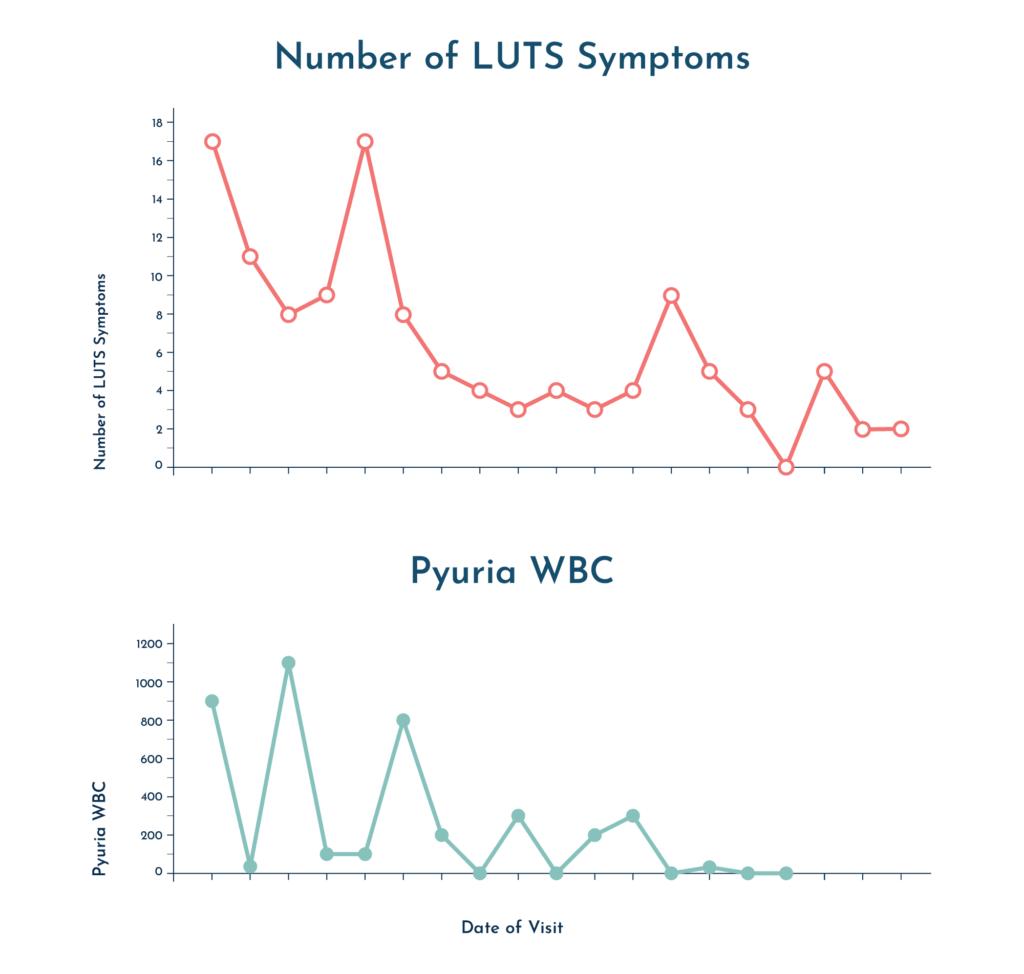 Professor Malone-Lee UTI symptom graph